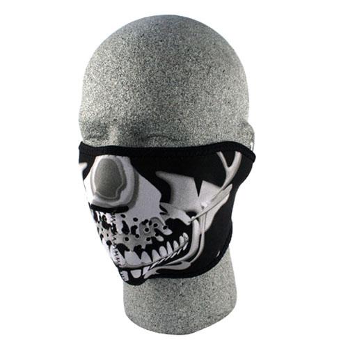 7f80d954970 Details about Zan Headgear WNFM023H ZANheadgear Neoprene Skull Half Face  Mask (Chrome Black)