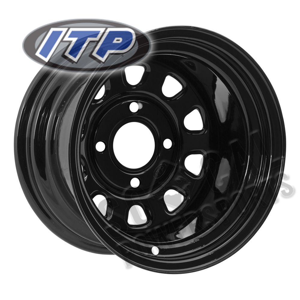 1997-2000 ITP Steel Wheel 10x8 4//137 Silver 3+5 Kawasaki KAF 620 Mule 2510 4X4