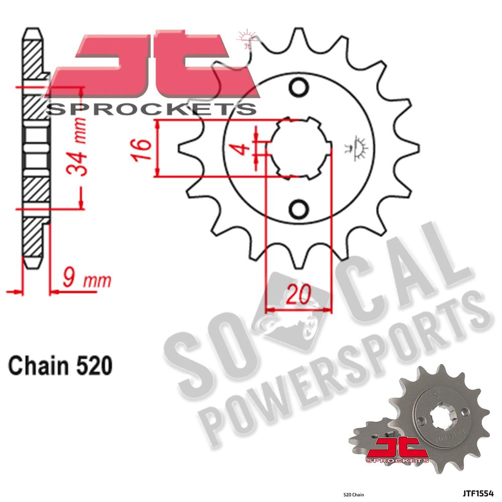 JT Sprockets JTF1352.13 13T Steel Front Sprocket