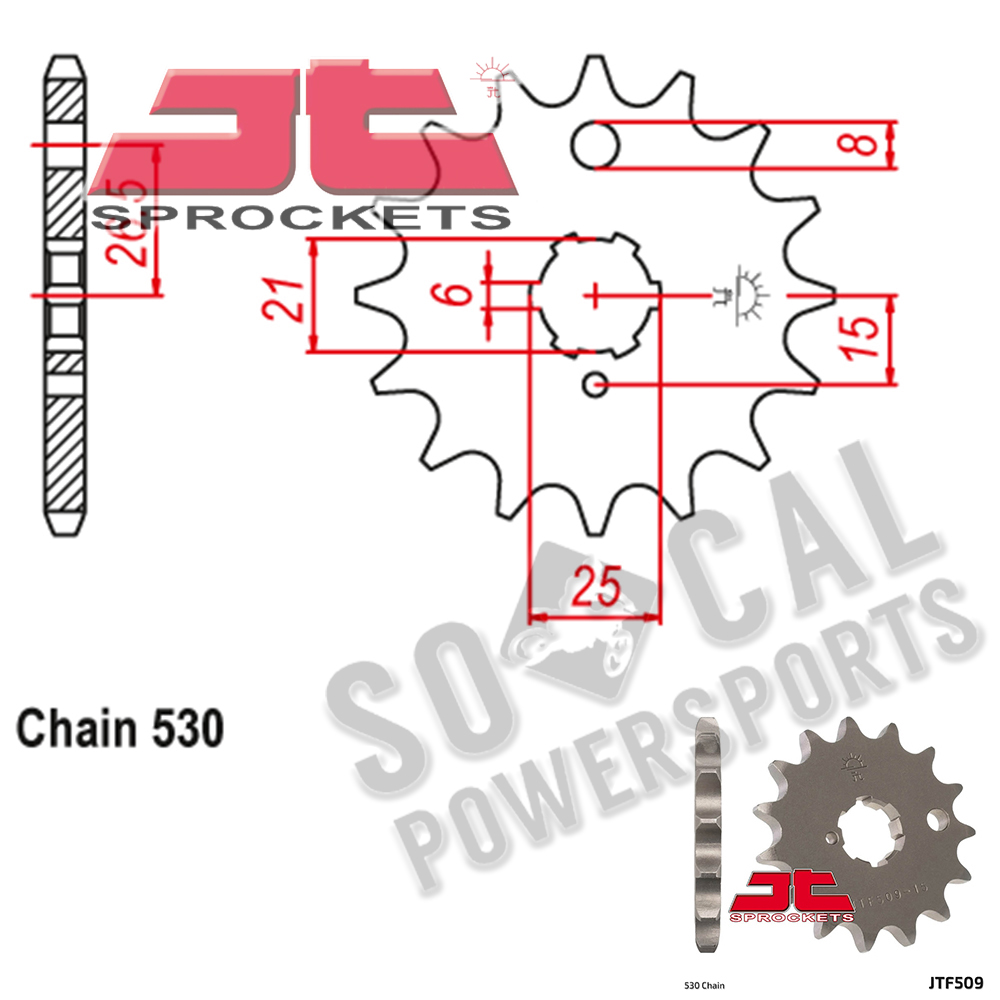 JT Sprockets JTF326.12 12T Steel Front Sprocket
