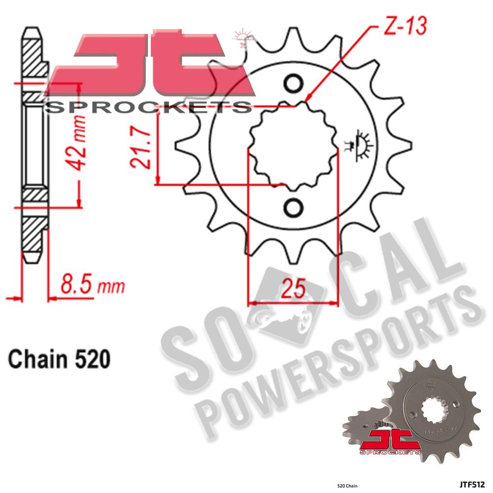 JT Sprockets JTF513.18 18T Steel Front Sprocket