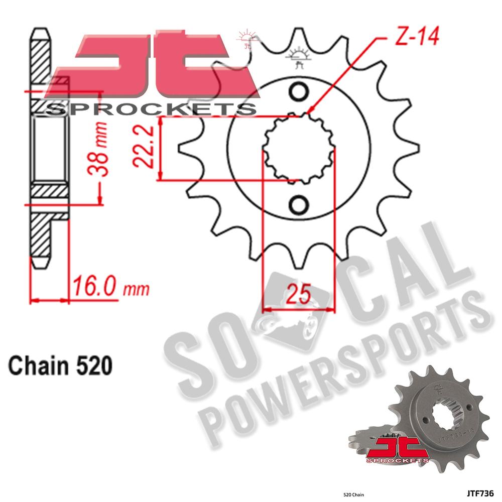 JT Sprockets JTF1321.13 13T Steel Front Sprocket